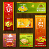 Mexican Food Banner Set Stock Image