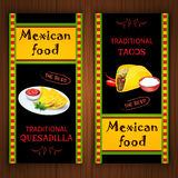 Mexican food banners Royalty Free Stock Photo