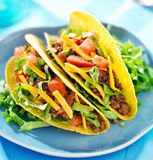 Mexican food -beef tacos Royalty Free Stock Image