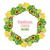Mexican food border Concept. Royalty Free Stock Photos