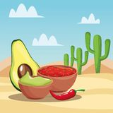 Mexican food cartoons vector illustration