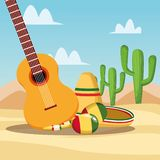 Mexican food cartoons royalty free illustration