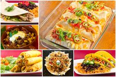 Mexican Food Collage Stock Photo