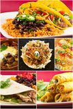 Mexican Food Collage Royalty Free Stock Images