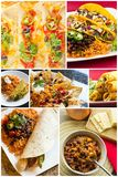 Mexican Food Collage Royalty Free Stock Image
