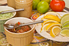 Mexican food condiments Stock Photo