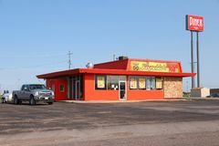 Mexican Food diner. GOODLAND, USA - JUNE 25, 2013: El Reynaldo's Mexican Food diner in Goodland, Kansas. There were 186,977 fast food restaurant locations and 30 Stock Image