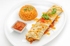 Mexican food dishes isolated on white Stock Photography
