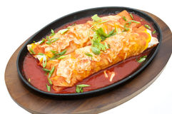 Mexican food dishes at the restaura Stock Photography