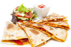 Mexican food dishes at the restaura Royalty Free Stock Photos