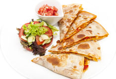Mexican food dishes at the restaura Stock Image
