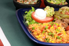 Mexican food feast Royalty Free Stock Photos