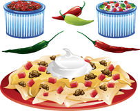 Mexican Food icons Royalty Free Stock Images