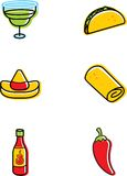 Mexican Food Icons Stock Photo