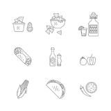 Mexican food icons Stock Photos