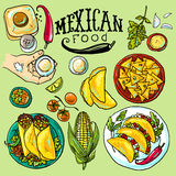 Mexican food illustration Royalty Free Stock Photography