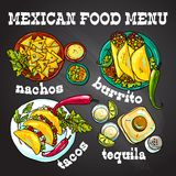 Mexican food illustration Royalty Free Stock Image