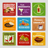 Mexican Food Labels Set Stock Image