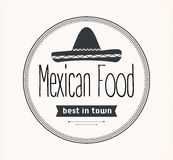 Mexican food logo Stock Photography