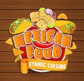 Mexican food logo. Royalty Free Stock Photo