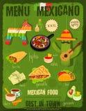Mexican Food Menu Stock Photo