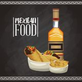 Mexican food menu card. Vector illustration graphic design royalty free illustration