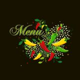 Mexican food  menu cover design Stock Photography