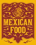 Mexican Food menu design Royalty Free Stock Photography