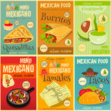 Mexican Food Mini Posters Set Stock Photography