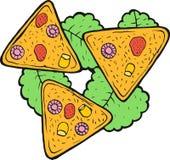 Mexican food nachos - colorful sketch. Ink artwork. Graphic doodle cartoon art. Vector illustration royalty free illustration