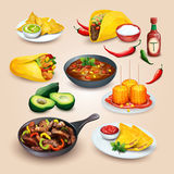 Mexican food. Objects set Royalty Free Stock Photos