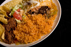 Mexican Food Plate Royalty Free Stock Photography