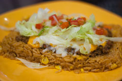 Mexican food plate Stock Image
