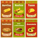 Mexican Food Poster Royalty Free Stock Images