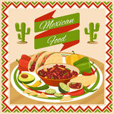 Mexican food poster Royalty Free Stock Photos