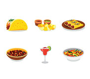 Mexican food promo poster mini set with Royalty Free Stock Photos