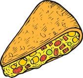 Mexican food quesadilla - colorful sketch. Ink artwork. Graphic doodle cartoon art. Vector illustration vector illustration