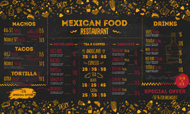 Mexican Food Restaurant menu, template design. flyer for promotion, site banner. Mexican Food Restaurant menu, template design. Food flyer for promotion, site vector illustration
