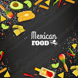 Mexican Food Seamless Background royalty free illustration