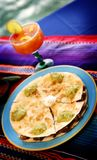 Mexican food 1. A mexican steak quesadillas platter Stock Photos