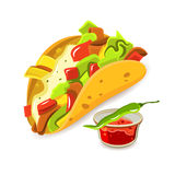 Mexican Food Taco Concept Royalty Free Stock Photography