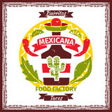 Mexican food tacos and burritos menu poster Stock Image