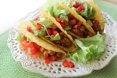 Mexican food - tacos Royalty Free Stock Photos
