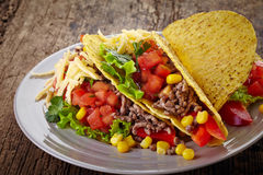 Mexican food Tacos Royalty Free Stock Images