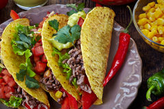 Mexican food Tacos Stock Image