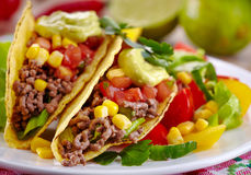 Mexican food Tacos royalty free stock image