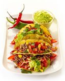 Mexican food Tacos Royalty Free Stock Photos