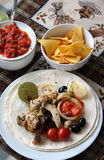 Mexican food with tortillas Stock Image