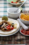 Mexican food with tortillas Royalty Free Stock Photo