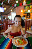 Mexican food. Traditional mexican food in Cancun Stock Photo